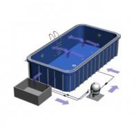 Hồ bơi composite 9.9 x 5 có hồ cân bằng