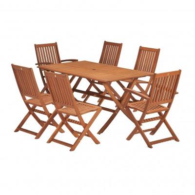 Bàn ghế gỗ ngoài trời chắc chắn