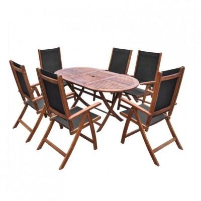 Bộ bàn ghế gỗ sân vườn bp026