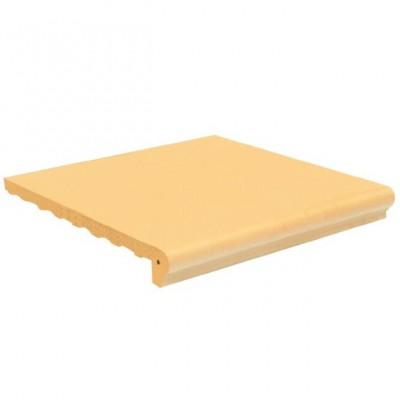 Gạch viền hồ màu vàng kem