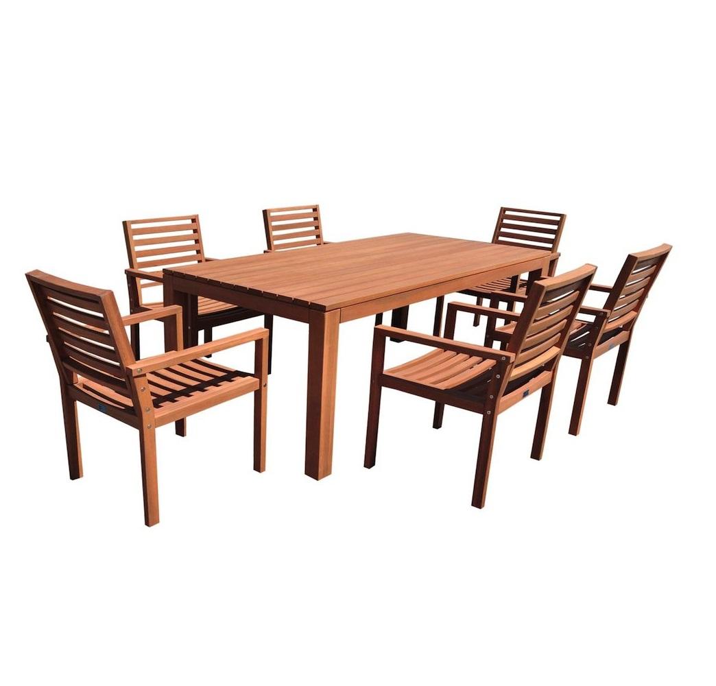 Bộ bàn ghế gỗ sân vườn bp027