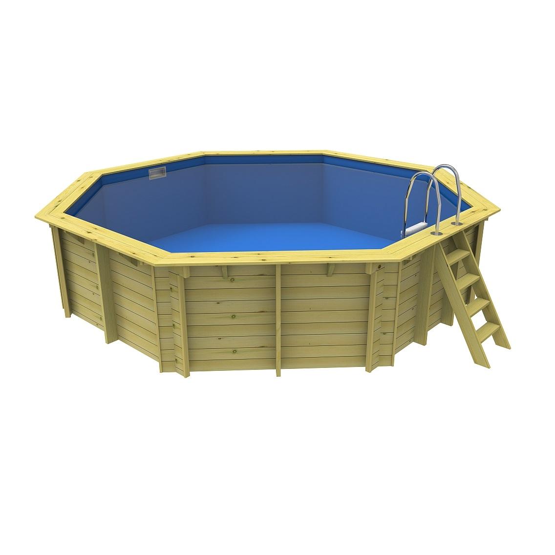 Hồ bơi composite frp khung gỗ 5.7 x 1.35 m